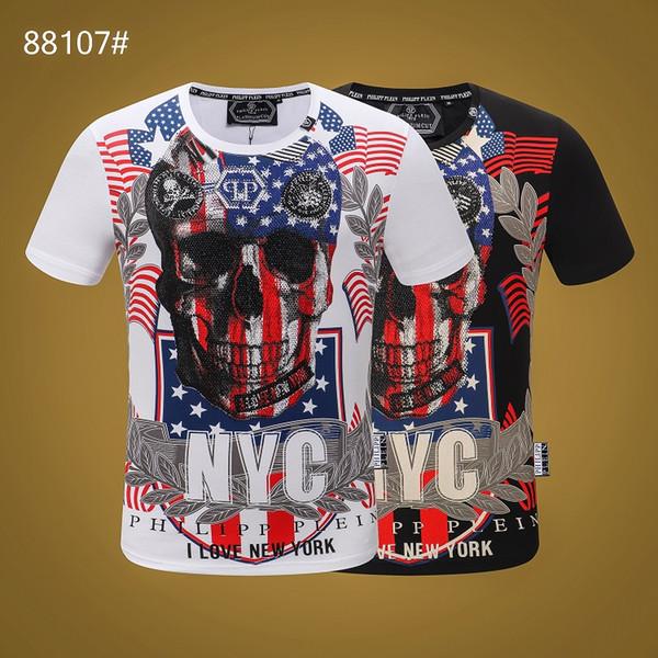 Hip Hop Erkek Moda Mektup Baskı Ekip Boyun T Gömlek Erkekler Pamuk Koşu Giyim Rahat Ince Kısa Kollu Tee