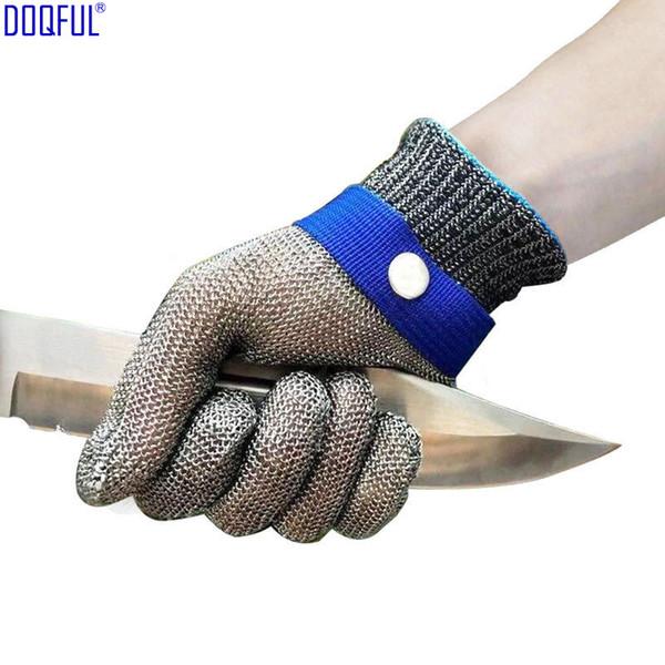 Toka Ile 316L Paslanmaz Çelik Tel Anti Bıçak Eldiven Çalışma Güvenliği Kendini Savunma Kesim Dayanıklı Mutfak El Koruyucu Eldiven