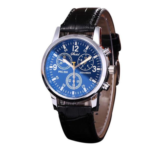2019 Fashion Men's Watch Relogio Masculino Business Double Face Leather Quartz Watch Men Gift Reloj Hombre Erkek Kol Saati