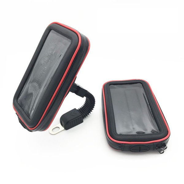 Motorcycle Bicycle Rearview /Handlebar Holder Mount Waterproof Bag Pouch cover Case for Mobile Phone GPS
