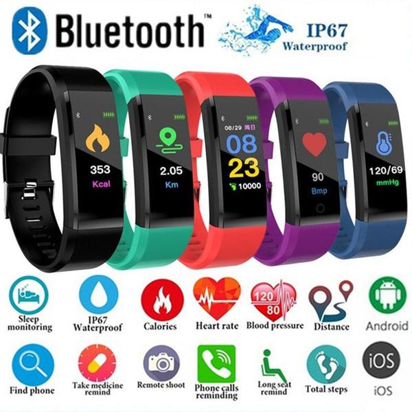 Smart Watch LCD Screen ID115 Plus Smart bracciale Fitness Orologi fascia cardio Blood Pressure Monitor Smart Wristband Con pacchetto di vendita