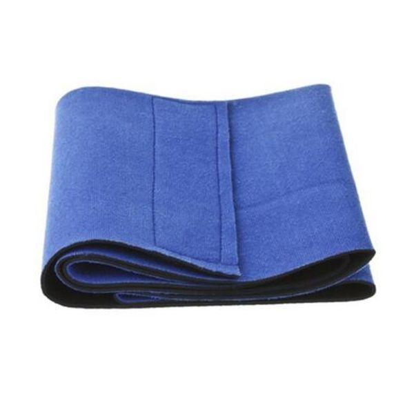 Hot Sale 1pc Unisex Blue Black Slimming Waist Belt Trimmer Wrap Cardio Burn Cellulite Sweat Wrap Body Belly Exercise Yoga Tools