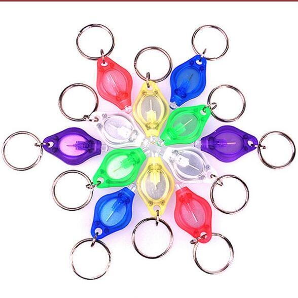 Mini Torch Key Chain Ring Handy LED Light Keyring White LED Lights UV LED Light Bulbs Photon Micro Light Keychain Fashion Flashlight LT654