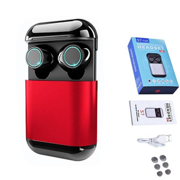S7 Mini Twins Auriculares Bluetooth 5.0 Auriculares TWS Auriculares Bluetooth Inalámbricos Estéreo Auriculares deportivos con micrófono Cajas de carga