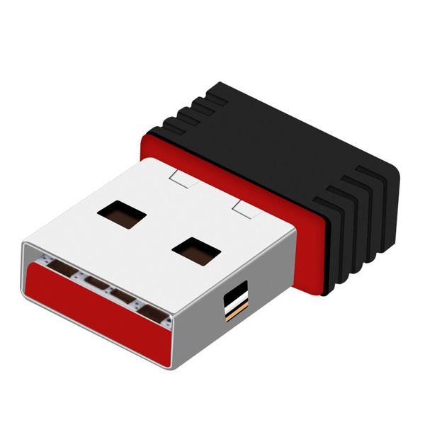 Nano 150M USB Wifi Adaptateur sans fil 150 Mbps IEEE 802.11n g b Mini Antena Adaptateurs Chipset MT7601 Carte Réseau Expédition DHL