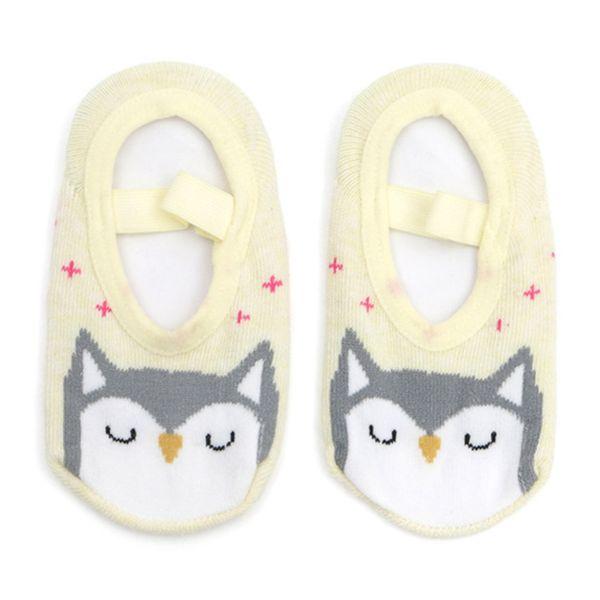 1 Pair Cartoon Toddler Shoes Socks Baby Boys Girls Non-skid Floor Socks Children Kids Indoor Leather Sole Thick Towel Sock