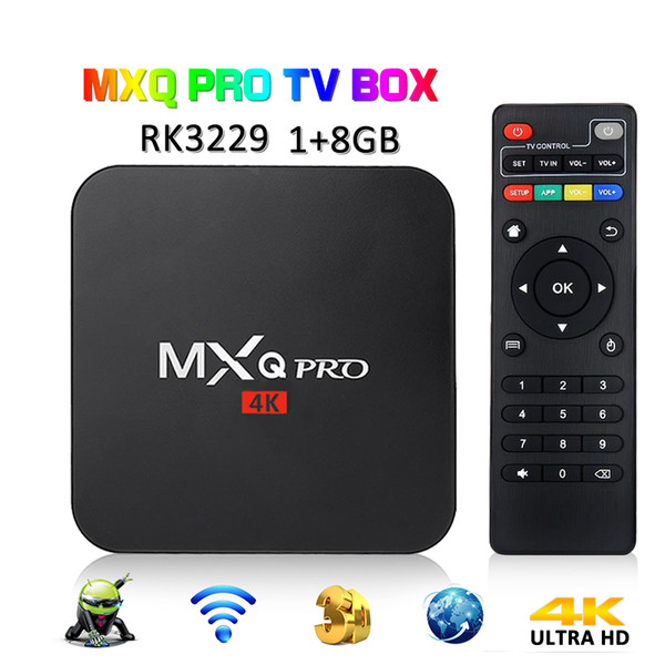best selling MXQ PRO 1GB 8GB 4K TV Box RK3229 Quad Core Android 7.1 Arabic IPTV Smart OTT TV Set Top Boxes