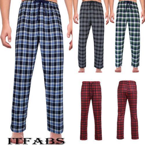efc806929e 2019 New Men S Ladies Fashion Loose Sleep Bottoms Plaid Flannel ...