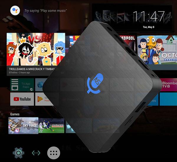 Голос 10шт сшитого Google управляется Smart TV OS T1 2GB / 16GB 1GB / 8GB, ядро S905W Quad 4k Смарт Android 7