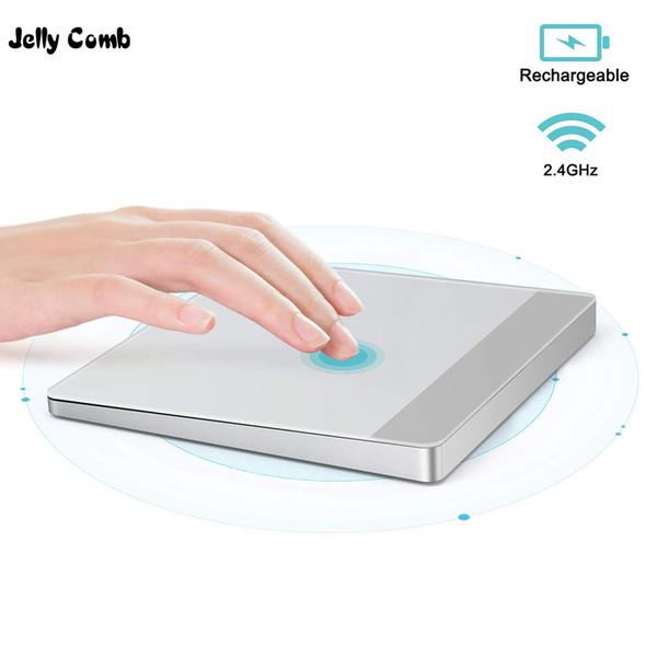 Jelly Comb 2.4G Touchpad sans fil avec récepteur USB Pad tactile rechargeable pour ordinateur portable PC Track Pad pour Windows Silver