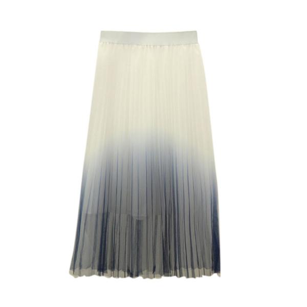 Best Women Elegant Multi Layers Long Womens Tulle Net Skirt Princess Lace Skirt Elegant Gradient Design Evening Party *