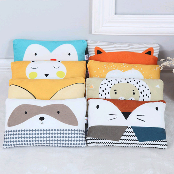 0-3 years old Cartoon Baby Pillow Newborn Decorated Shaping Pillow Plush Head Protection Cushion For Toddler Bedding Anti Roll