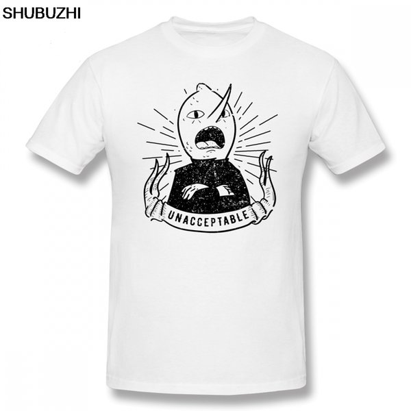 Adventure Time T Shirt Unacceptable T-Shirt Print Cotton Tee Shirt Casual Funny Short-Sleeve Oversize Male Tshirt
