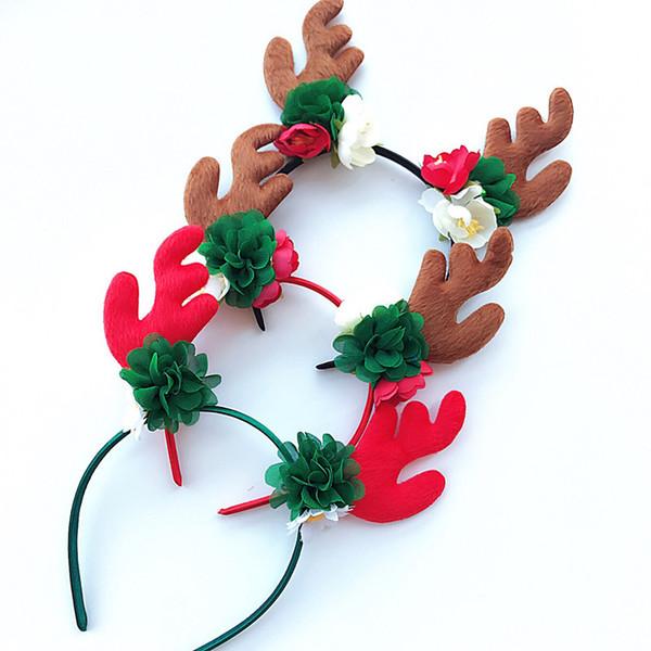 Chifres de doce das crianças do dia das bruxas varas de natal festa headband do cabelo acessórios do bebê cocar headband do feriado celebração presentes