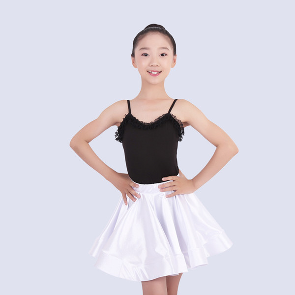 Latin Dance Skirt Girls Latin Practice Clothes Professional Kids Competition Dress Tango/Rumba Performance Outfit DQL1334