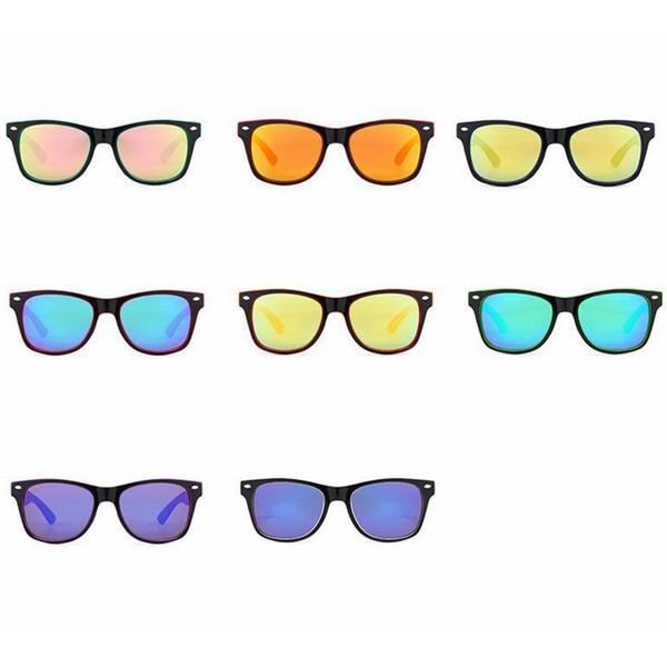 Klasik Çocuk Polarize Güneş Gözlüğü Moda Çocuklar Çok renkli Güneş Gözlükleri Sevimli Bebek Seyahat Plaj Gözlük Açık Sürüş Gözlüğü TTA1009