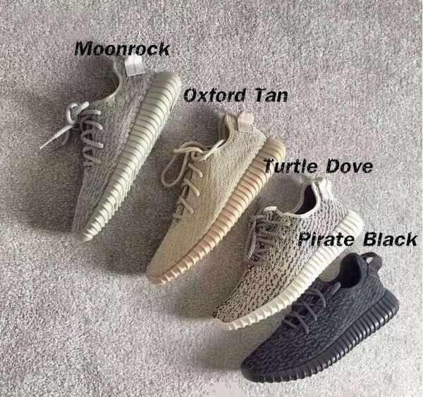 V1 Moonrock Oxford Tan Pirata Negro Blanco Completo Negro Zapatillas de correr Zapatillas Kanye West Sin caja original Deportes envío gratis