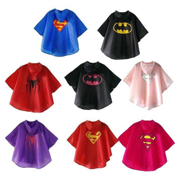 100% De Fibra De Poliéster Crianças capa de Chuva de Qualidade Superior À Prova D 'Água Pano Originalidade Superhero Filme Adorável Casacos de Chuva Bardian Com D 16dr J1