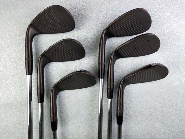 Brand New Golf clubs 0311 Black Wedges 50,52,54,56,58,60 Degree clubs wedges Steel Golf shafts Free shipping
