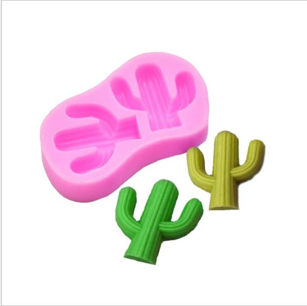 Molding Silicone Mold Cactus Cake Decorating Fondant Molds Cake 3D Cactus Chocolate Candy Fimo Clay Mould Free Shipping