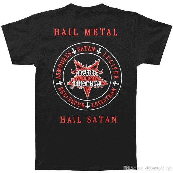 Dark Funeral Männer schwedisch Schwarz Metall T-Shirt Schwarz T-shirt Männer Druck Kurzarm Thanksgiving Day Benutzerdefinierte 3XL Party T-S