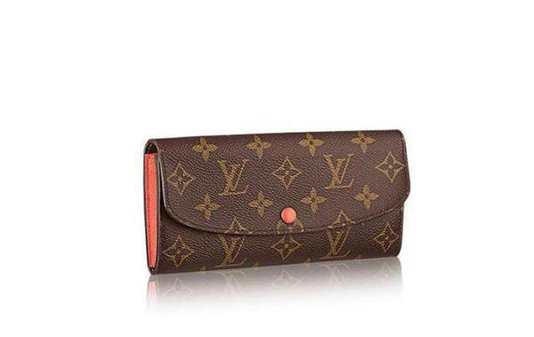 Portefeuille multi usage M61578 pour femmes en cuir avec portefeuille Emilie en cuir oxydé embrayages soirée longue chaîne portefeuilles sac à main compact