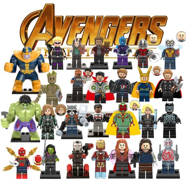 Ation Figure 33 Modèles Super Hero Avengers Capitaine Marvel Ant Homme Guêpe Blocs de Construction Hulk Black Panther Jouets Pour Enfants