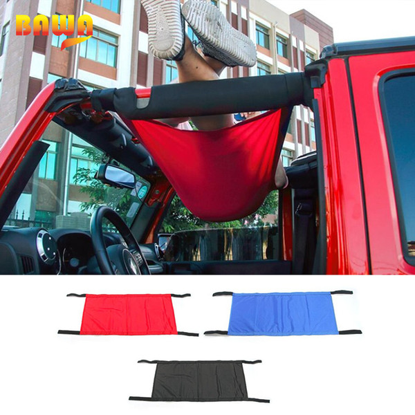 top popular BAWA Car Covers For Jeep Wrangler 1997-2018 YJ TJ JK JL Automatic Car Covers Hammock Tent Net Top Roof Storage Car Cover 2020