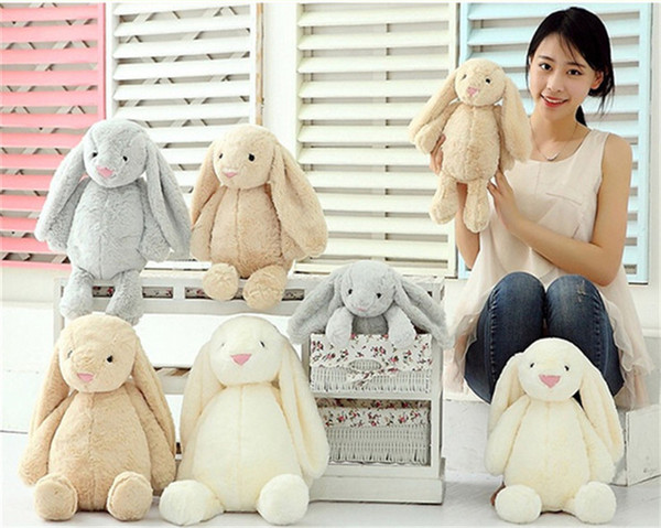 best selling Creative Toy Doll Cute Bunny Rabbit 2018 Cute Stuffed Baby Girls Toys Cute 30CM 40CM 50CM Christmas Holiday Gifts