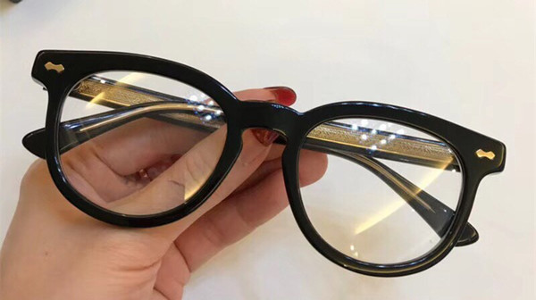 Wholesale-Luxury Fashion Women Designer 0183OA Glasses Hollow Out Optical Lens Square Full Frame Black Tortoise Bing Bing Come With Case