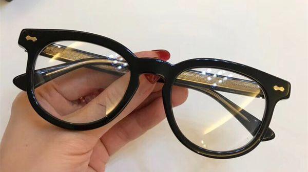 Grossiste-Luxe Mode Femmes Designer 0183OA Lunettes Évider Optique Carré Plein Cadre Noir Tortoise Bing Bing Venez Avec Étui