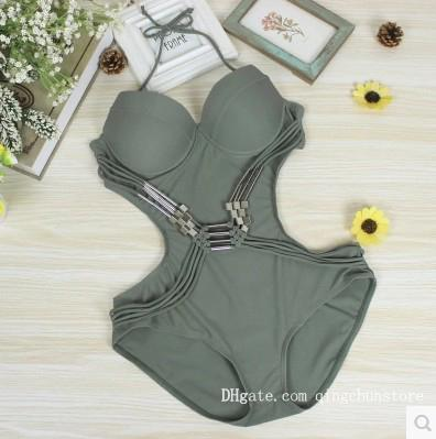 New Korean version of the one-piece swimsuit sexy cover belly was thin size chest steel support gathered bikini conservative female swimsuit