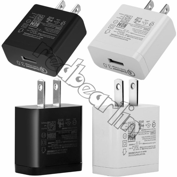 5V 9V 2A 12V 1.6A US Wall Charger QC 3.0 Fast Quick Charging Power Adapter Chargers For Samsung S8 S9 S10 Note 8 9 Iphone 7 8 X Ipad Mp3 Pc