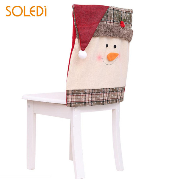 Nonwoven Fabric Christmas Chair Cover Lovely Ornaments Cap Chair Cover Beautiful Table for Dinner Christmas Seat