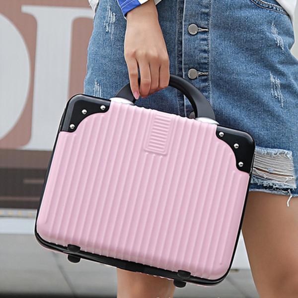 "Old products 14 ""small makeup bag lady luggage box soft handbag mini travel luggage custom free shipping"