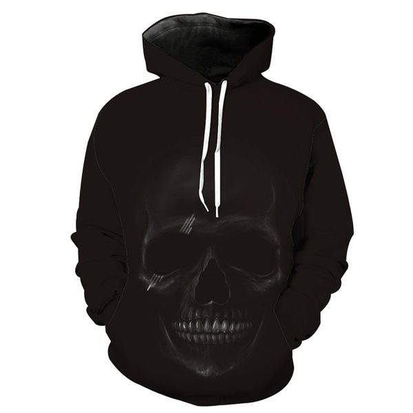 Mens Designer Hoodie Autumn Winter Skull Head Digital Printing Casual Sports Hoodie for Young Fashion Hipster Hoodies