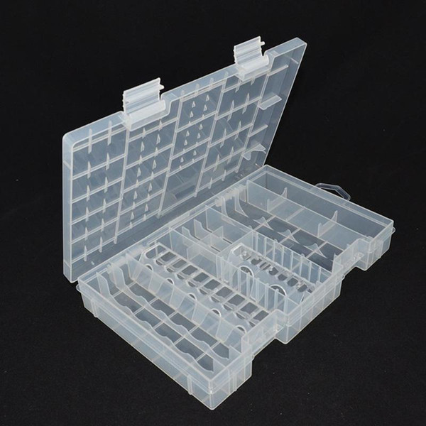 Hard Plastic Transparent A AAA C D 9V Battery Storage Case Box Holder Container Large Size Home Battery Organizer
