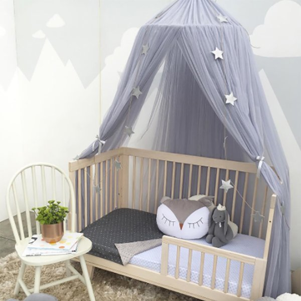 Junejour Hanging Kids Bedding Mosquito Net Dome Bed Canopy Cotton Home Decor Bedcover Curtain For Baby Kids Reading Playing