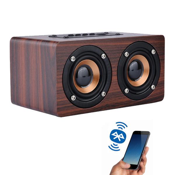 Top vente Portable Bluetooth Haut-Parleur En Bois En Plein Air HiFi Enceinte Sans Fil Haut-parleurs Soutien TF Carte AUX Sound Box Subwoofer