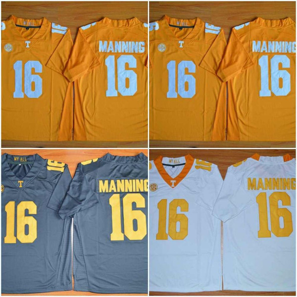 Factory Outlet- #16 Peyton Manning,Tennessee Volunteers NCAA College Football Jerseys,2015-2016 New Style Game Stitched Jersey,Free Shipping