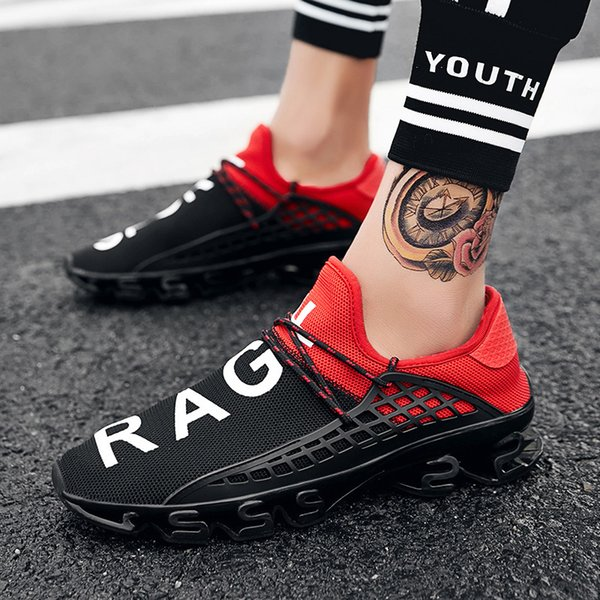 2019 Men Casual Blade Sneakers Cushioning Outdoor Sport Shoes Light Trainers Spring Chaussures Pour Hommes Big Sz Y190702