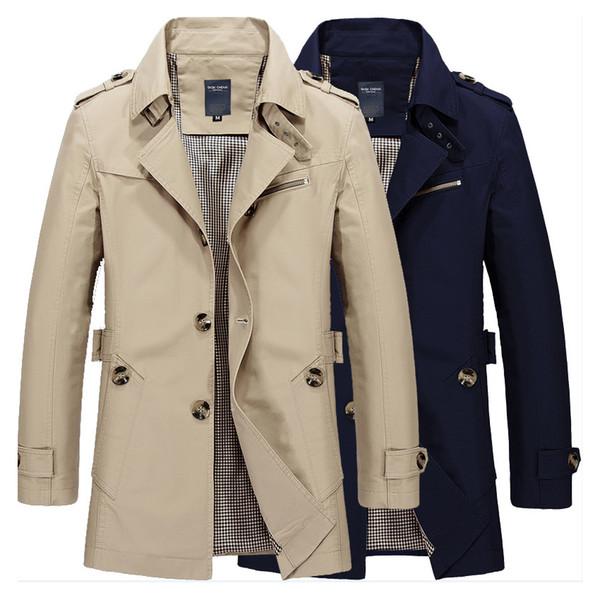 Diseñador de los hombres de la chaqueta de lujo de la chaqueta ocasional otoño Esquí de chaqueta de trabajo fino de algodón rompevientos más el tamaño M-5XL 2019 Nuevo