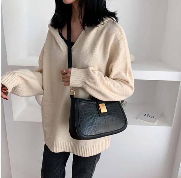 Moda El Eğimli Çanta Chao Kore Baitao Timsah baskı Tek Omuz Çantası