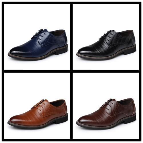 With Box Brand shoes Imported fabric Original wear resistant non-slip sole Comfortable breathe freely men's business casual shoes 38-48