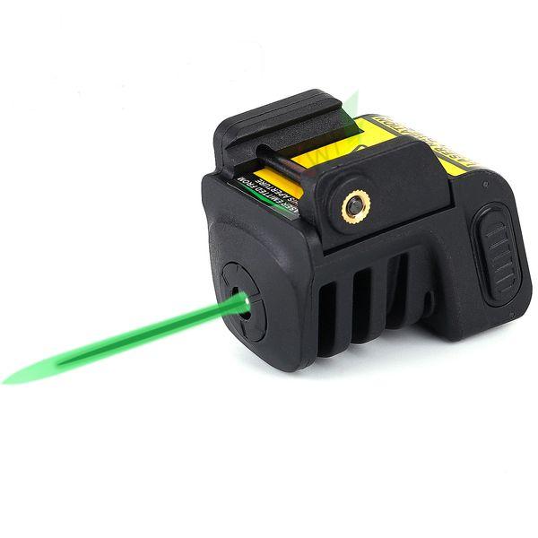 Mira verde recarregável do laser do ponto do laser verde tático de 532nm micro