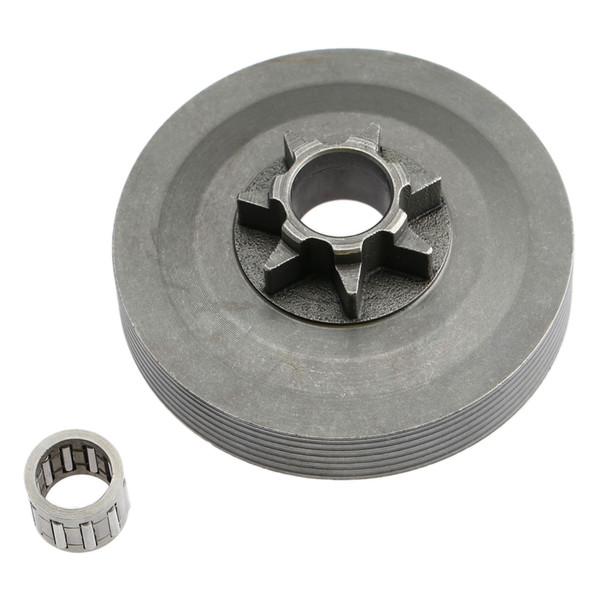 clutch drum Steel Tool Parts 4500 5200 5800 Chainsaw Sprocket Rim Clutch Drum One Body w/Needle Bearing Set for 45 52CC 58CC