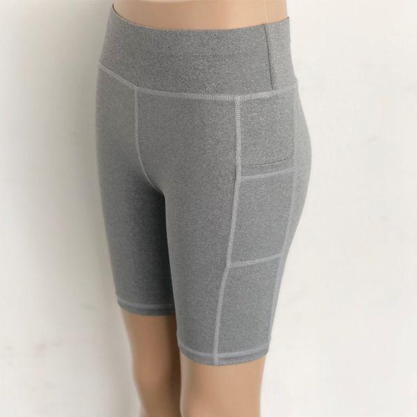 Women Sports Shorts High Waist Yoga Leggings Workout Out Pocket Leggings Fitness Sports Gym Running Yoga Athletic Shorts Femme 6 Color