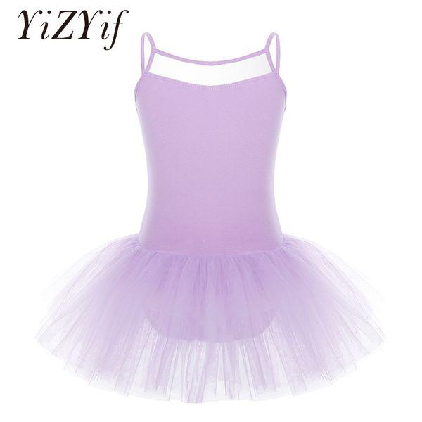 YiZYiF Professional ballet Tutu Dress For Girls Sleeveless Tulle Ballet Dancer Leotard Dress ballerina Dancewear Clothes