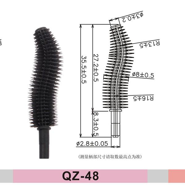 3D Magic Curling Nylon Silicon Hair Eyelash Eyebrow Eyeliner Mascara Brushes Bottle Tube Eyelash Packaging Box Wands Applicator Box QZ-48