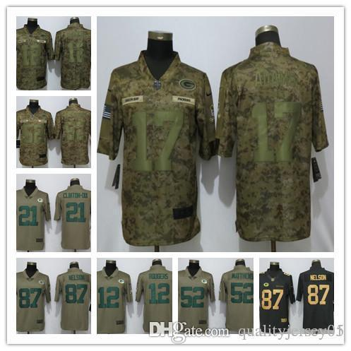reputable site 5cf71 51dd0 2018 2018 New Green Bay Packers 12 Rodgers Camo Limited Mans Football  Jersey #12 Rodgers 17 Adams 52 Matthews 87 Nelson Jerseys From  Qualityjersey09, ...